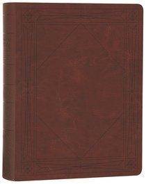 ESV Single Column Journaling Bible Brown Window