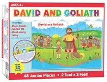 David and Goliath Floor Puzzle & CD (48 Jumbo Pieces)