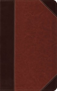 ESV Thinline Bible Brown Cordovan Portfolio Design Red Letter Edition