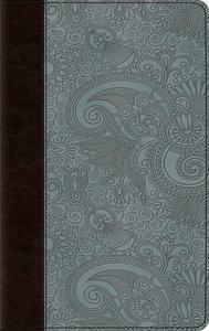 ESV Thinline Bible Trutone Chocolate/Blue Garden Design