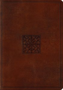 ESV Study Bible Trutone Walnut Celtic Imprint Design (Black Letter Edition)
