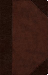 ESV Wide Margin Reference Bible Trutone Brown/Walnut Portfolio Design Red Letter Edition