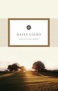 ESV Daily Light Devotional Bible (Black Letter Edition)