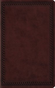 ESV Large Print Value Thinline Bible Mahogany Border (Black Letter Edition)
