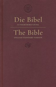 ESV German/English Parallel Bible Luther/Esv Dark Red (Black Letter Edition)