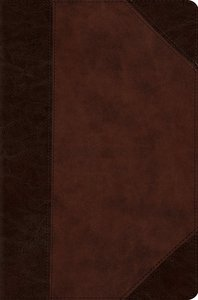 ESV Compact Bible Trutone Brown/Walnut Portfolio Design (Black Letter Edition)
