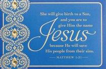 Christmas Premium Boxed Cards: Jesus, He Will Save (Matthew 1:21 Niv)
