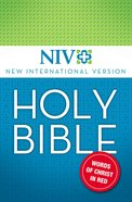 Holy Bible , Red Letter Edition (Niv)