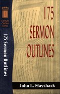Sos: 175 Sermon Outlines (Sermon Outline Series)