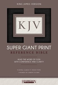 KJV Super Giant Print Reference Bible Black