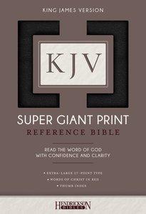 KJV Super Giant Print Thumb Indexed Reference Bible Black