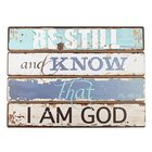 Wooden Plaque: Be Still, Nautical (Mdf) (Ps 46:10)
