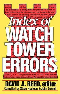 Index of Watchtower Errors (1879 To 1989)