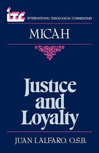 Itc Micah (International Theological Commentary Series)