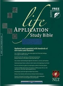 NLT Life Application Study Bible Navy (Red Letter Edition)