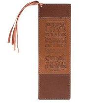 Bookmark Luxleather Tassel: Steadfast Love, Brown/Tan
