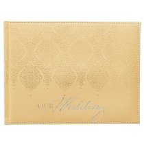 Guest Book: Wedding Gold Luxleather