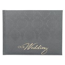 Guest Book: Wedding Silver Luxleather