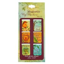 Magnetic Bookmarks Set of 6: God Gives Peace