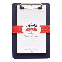 Clipboard With Notepad: A Cheerful Heart (2 Chron 15:7)