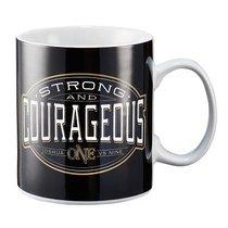 Ceramic Mug: Strong & Courageous Black (Josh 1:9)