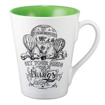 Stoneware Mug: Set Your Minds on Things Above (White/green)