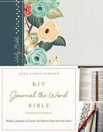 KJV Journal the Word Bible Green Floral (Red Letter Edition)