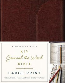 KJV Journal the Word Bible Large Print Premium Leather Brown Red Letter Edition