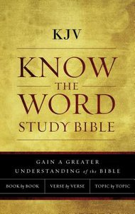 KJV Know the Word Study Bible Red Letter Edition