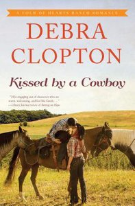 Kissed By a Cowboy (Large Print) (#03 in Four Of Hearts Ranch Romance Series)