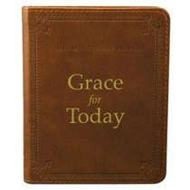 One Minute Devotions: Grace For Today Brown Luxleather