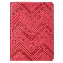 Handy-Sized Journal: Hope in the Lord Red Stripes Luxleather