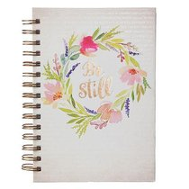 Spiral Journal: Be Still Hardcover (Colored Wreath)