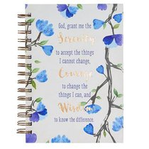 Spiral Journal: God, Grant Me the Serenity.... Hardcover (Blue Flowers)