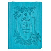Journal: Classic Luxleather With Zipper, Trust in the Lord With All Your Heart