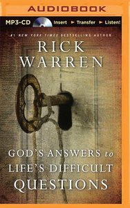 Gods Answers to Lifes Difficult Questions (Unabridged, Mp3)