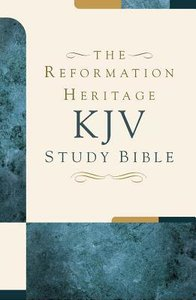 KJV Reformation Heritage Study Bible Tan/Burgundy Duo-Tone