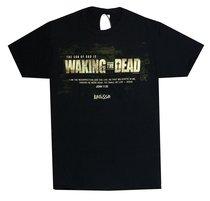 Mens T-Shirt: Waking the Dead Small Black/White (John 11:25)