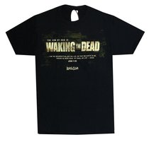 Mens T-Shirt: Waking the Dead 4x-Large Black/White (John 11:25)