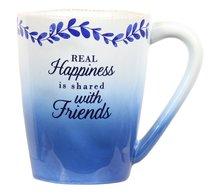 Ceramic Mug: Friends (Blue/White) (Eat Share Love Series)