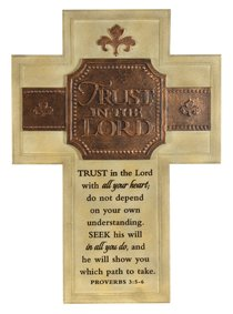 Wall Cross: Trust in the Lord Large (36cm X 26cm)