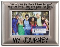 Photo Frame Beveled Metal: My Journey (Colossians 3:14)