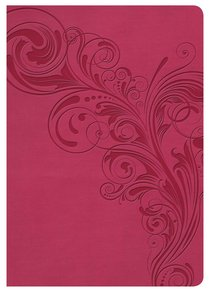 NKJV Large Print Compact Reference Bible Pink Indexed