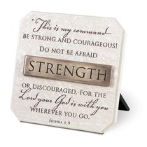 Plaque: Strength (Polyresin)