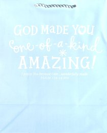 Value Gift Bag Large: Light Baby Blue (Psalm 139:14 Niv)