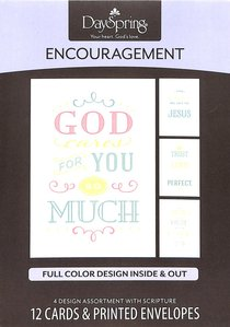 Boxed Cards Encouragement: Clear Message (Full Color Design Inside & Out)