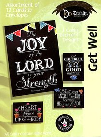 Boxed Cards Get Well: Chalkboard