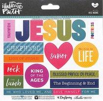His Name (Illustrated Faith Sticker Icon Series)