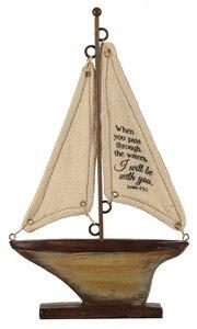 Sailboat Tabletop: When You Pass Through.... (Isaiah 43:2)