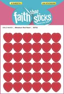 Miniature Red Heart (6 Sheets, 216 Stickers) (Stickers Faith That Sticks Series)